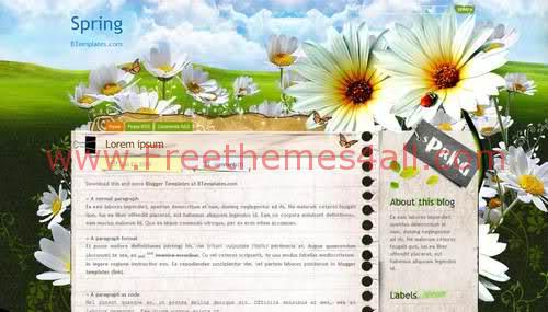 Flowers Blogger Template