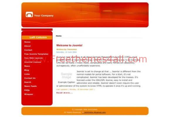 Free Joomla Schizope Red Web2.0 Template