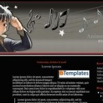 Dark Black Blogger Music Template