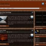 Black Brown Wordpress Theme