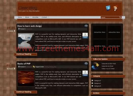 Free WordPress DClean Brown Black Theme