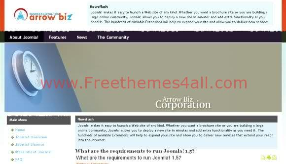Simple Corporate Business Joomla Template
