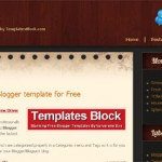 Black Brown Blogger Template