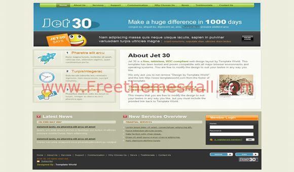 Free Business Company Joomla Template