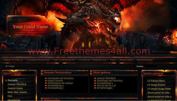 Dark Flash WOW Free Joomla Template