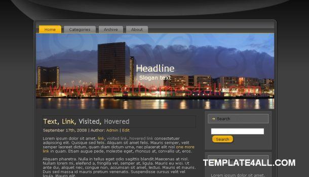 Free City Travel Gray WordPress Theme