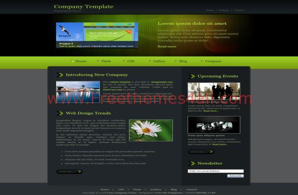 Free css abstract green black website template freethemes4all free css abstract green black website template wajeb
