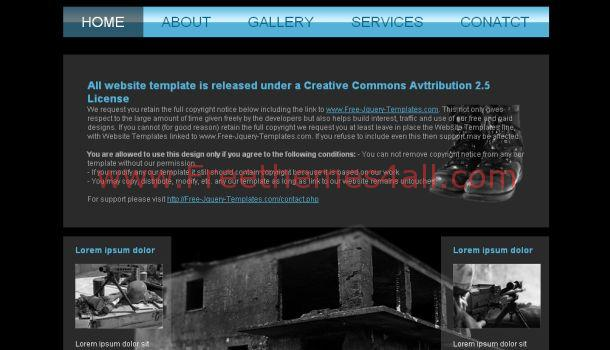 Free Academy Black Blue Website Template