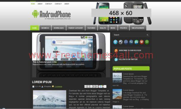 Gray Android Blogger Template
