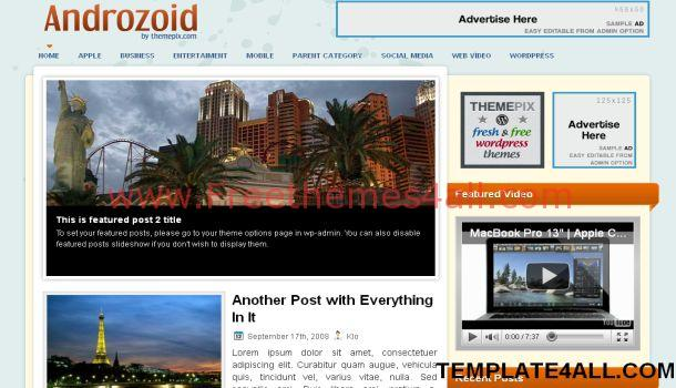 Free Business Network WordPress Theme