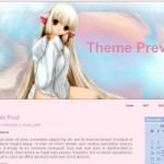 Girly Pink Anime WordPress Theme