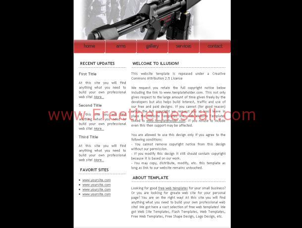 house black free css template small arms black css template