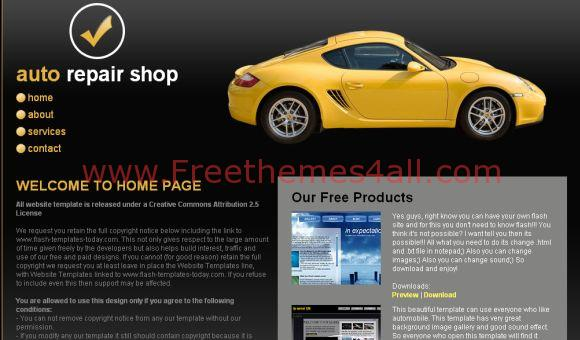 Free Auto Repair Shop CSS Website Template