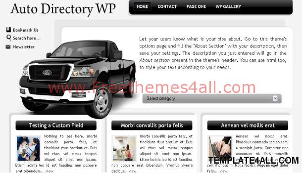 Automotive Black WordPress Theme