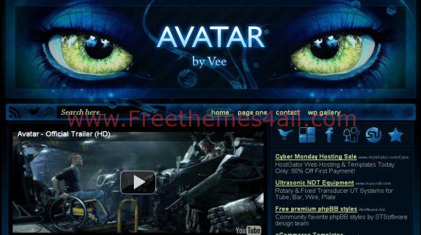 The Avatar Movie Wordpress Theme - Freethemes4all