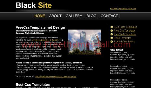 Yellow Black Free CSS Website Template