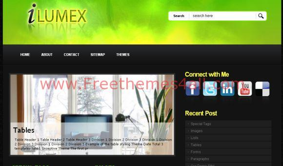 Free Yellow Green Black WordPress Theme