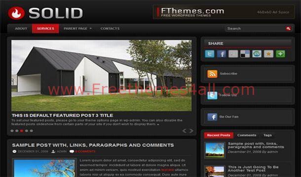Free Dark Black Magazine WordPress Theme
