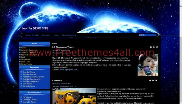 The Abstract Blue Joomla Template
