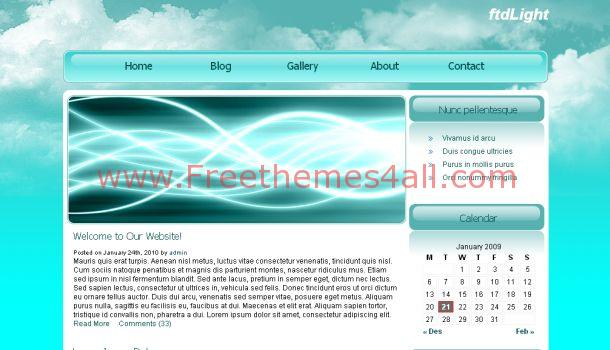 FtdLight Clouds Blue Free Website Template