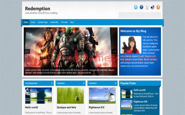 Free Games Chrome Blue Jquery WordPress Theme