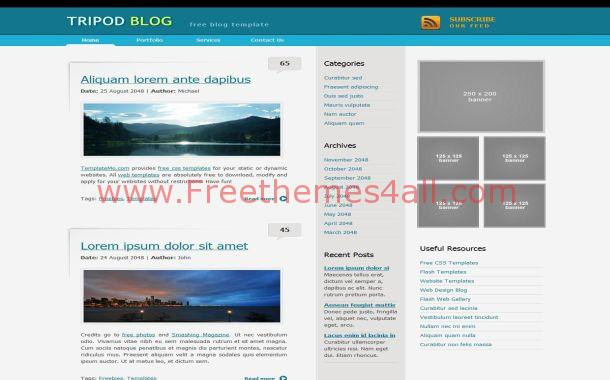 Blue business magazine free css template freethemes4all blue business magazine free css template wajeb