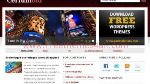 Clean Red Gray Magazine Wordpress Theme