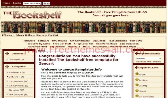 Brown Oldies Books ZenCart Template
