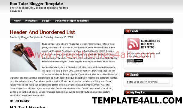 Free Black White Web 2.0 Blogger Template
