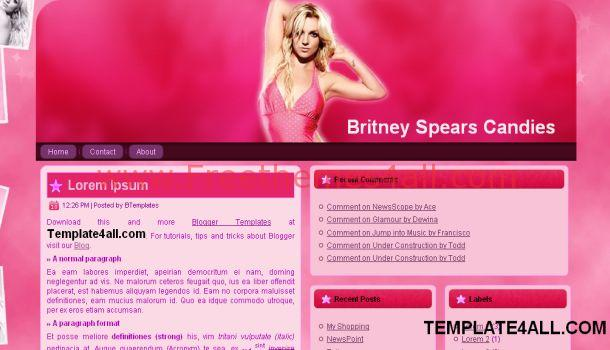 Music Celebrities Pink Blogger Template