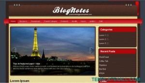 Red Blue Brown Blogger Template