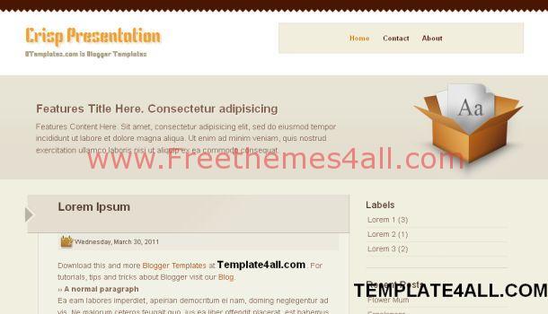 Modern Business Web 2.0 Blogger Template