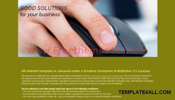 Business Green CSS Website Template