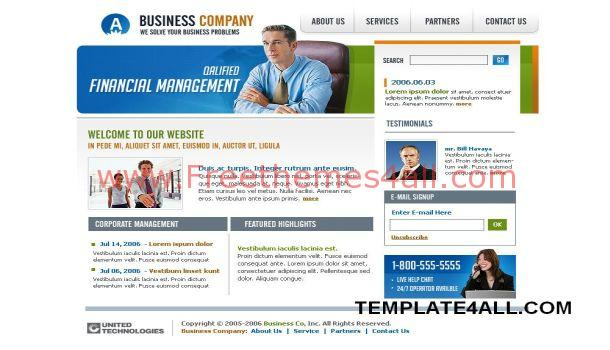 Free HTML Business Flash Website Template