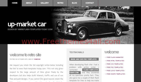 Free Cars Market Black CSS Template