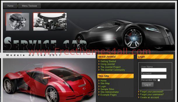 Free Cars Magazine Joomla Flash Template
