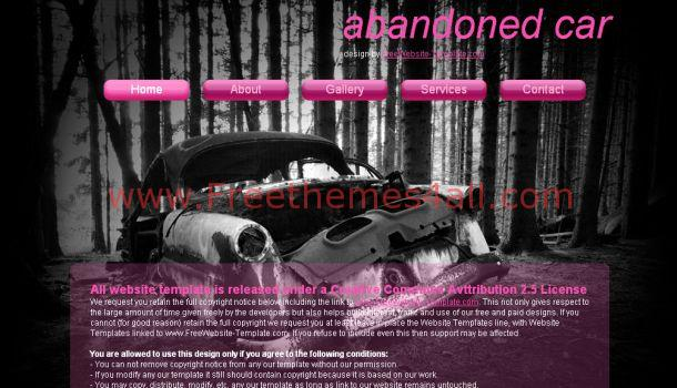 Free Pink Cars CSS Website Template