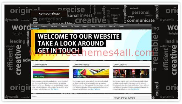 Caulfield Portfolio Black Joomla Template