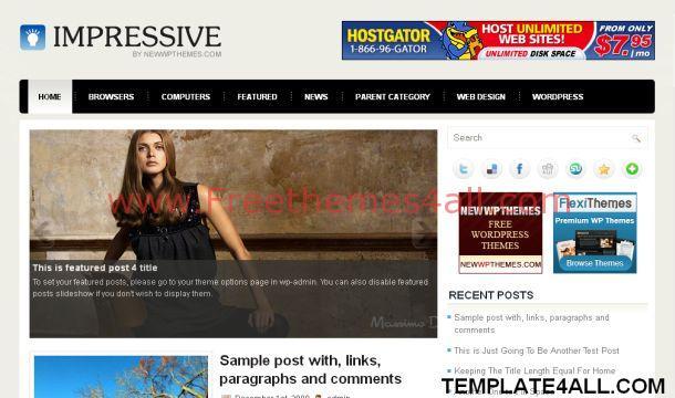 Free Gray Black Magazine WordPress Theme