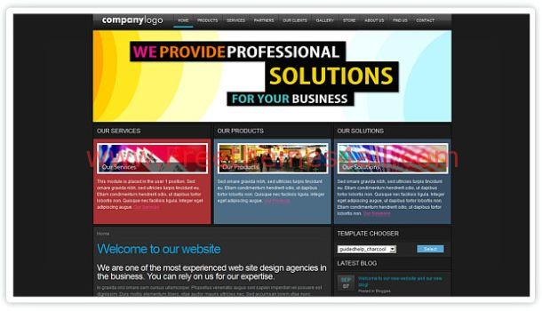 Business Solution Dark Joomla Theme