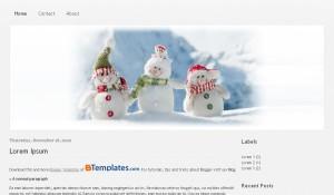 Free Snowman Christmas Blogger Template