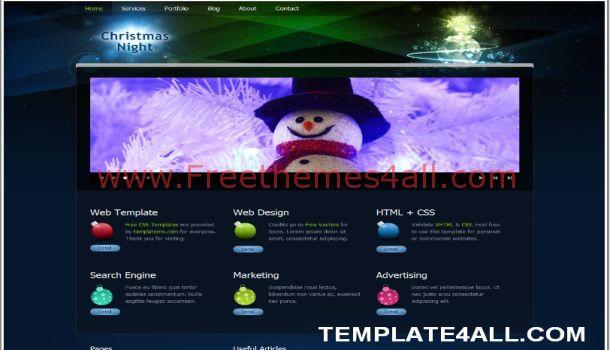 Free Dark Blue Flash CSS Website Template
