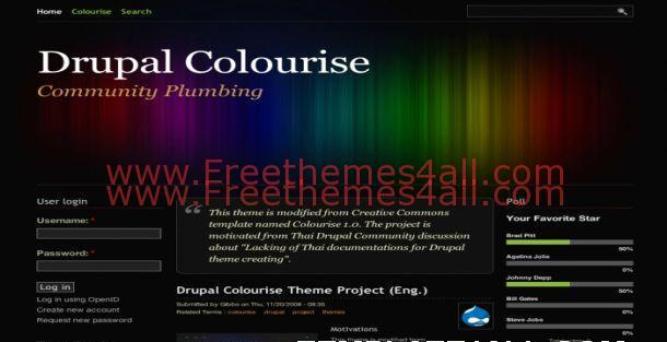 Dark Black Abstract Free Drupal Theme