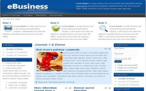 Blue Commerce Business Free Joomla Theme