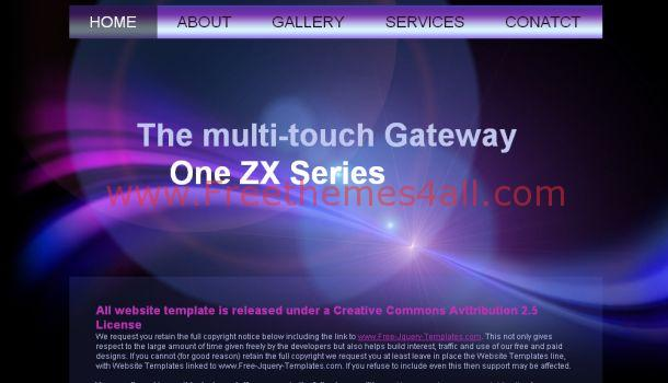 Abstract Purple Free Website Template