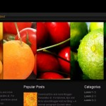 Dark Black Fruits Blogger Template