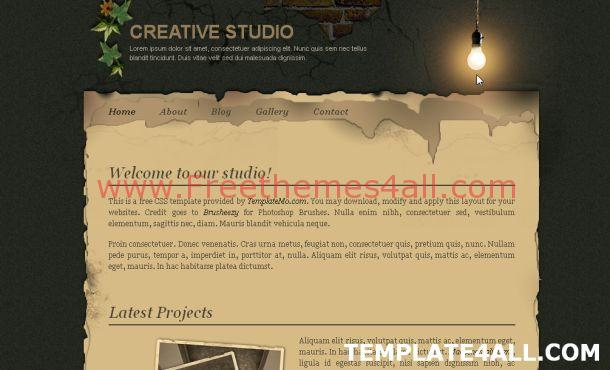 Free Web Studio CSS Website Template