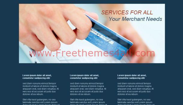 Free Business Blue Website Template