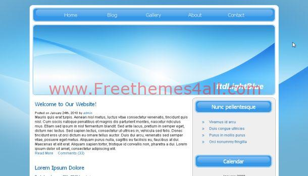 Abstract Blue Free CSS Web Template