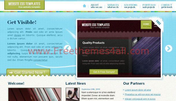 ajax css jquery blue website template download. Black Bedroom Furniture Sets. Home Design Ideas